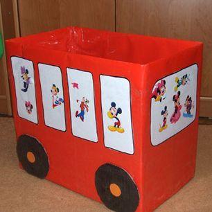 Как сделать ящик для игрушек своими руками из коробки ящик