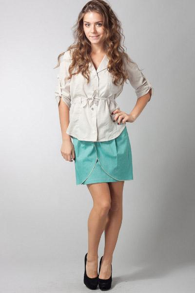 Бирюзовая юбка
