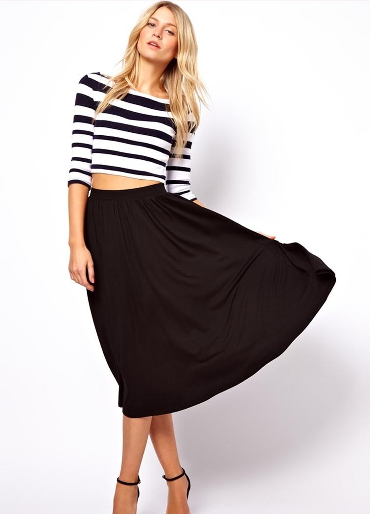 Высокая юбка с топом фото
