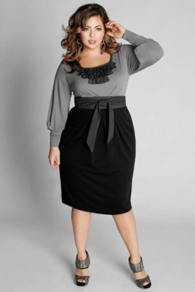 Черные юбки для полных фото