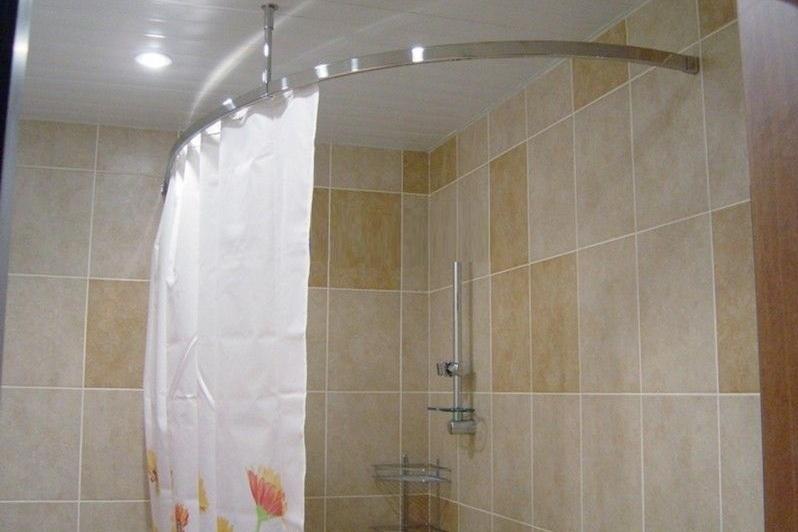 Угловая штора для ванной своими руками