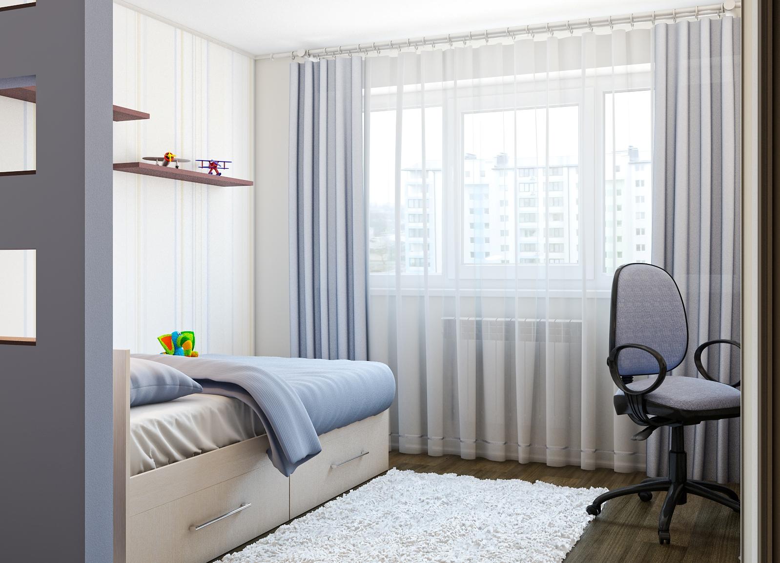 Дизайн штор в комнату для юноши