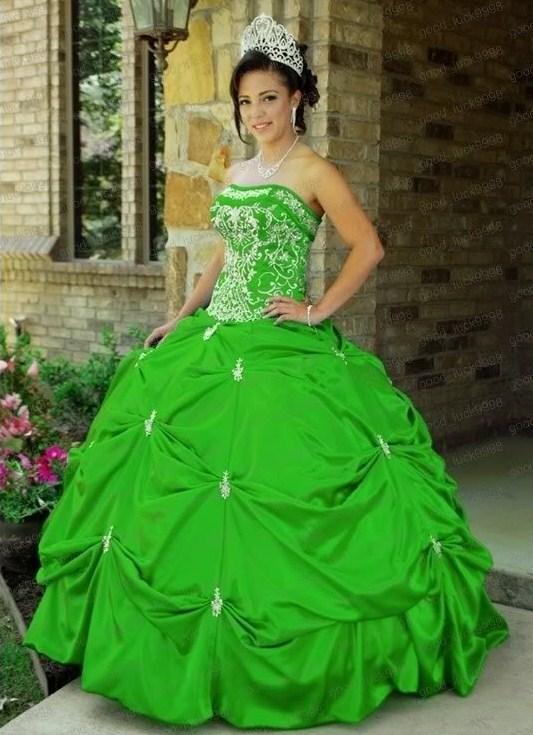 Свадебное платье салатовый