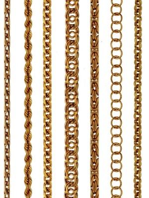цепочка золотая женская на шею плетение