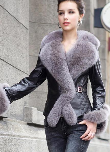 Кожаные куртки с мехом чернобурки спб