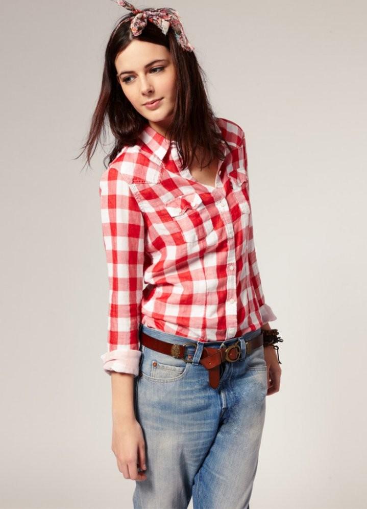 фото женские рубашки под джинсы