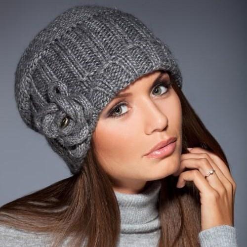 фото женских шапок вязаных