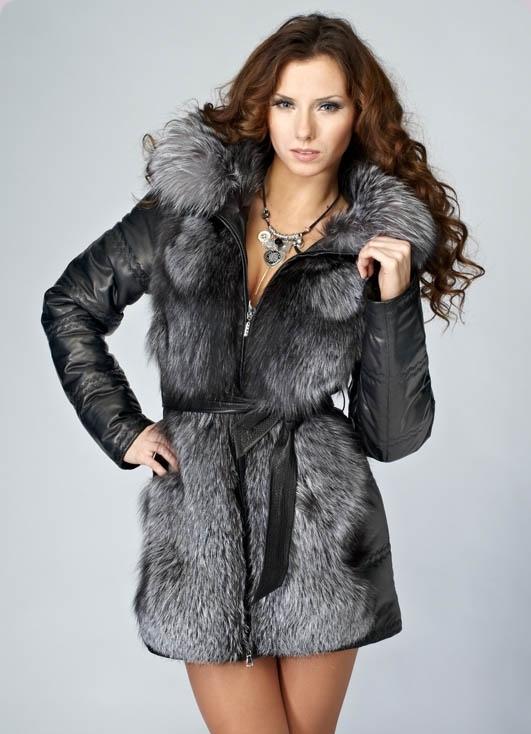 Кожаные теплые зимние куртки