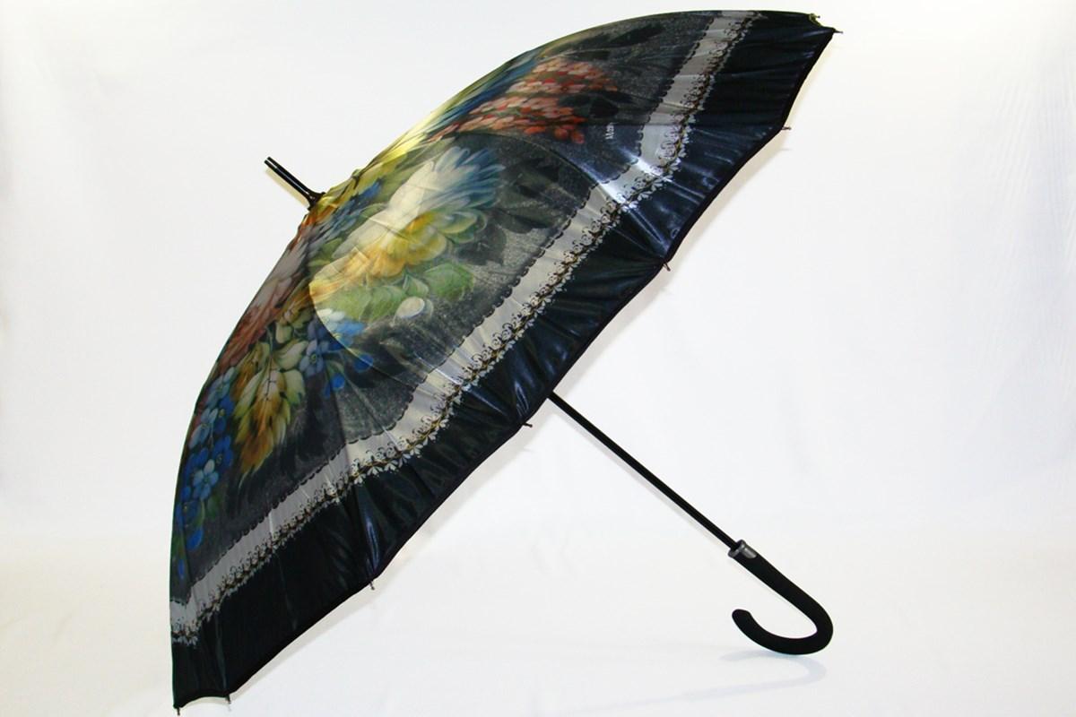 Зонты женские полу автомат, зонт открывается
