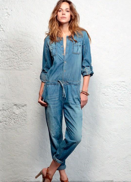 Женский джинсовый комбинезон SUNGUY XL