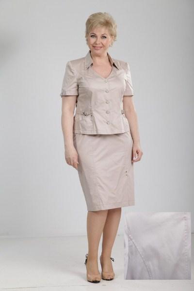 Летний костюм с юбкой фасоны