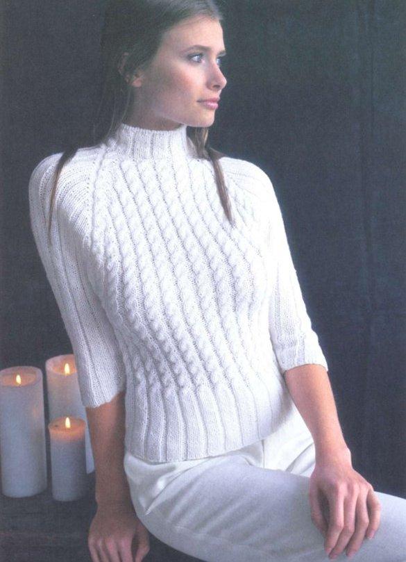 Вязание свитера женские - Модно в России 2014, Изделия из ткани в горох, Выкройки сарафанов 2011, Бурда: вязаные