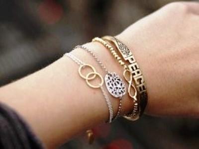 Красивый золотой браслет на руку фото