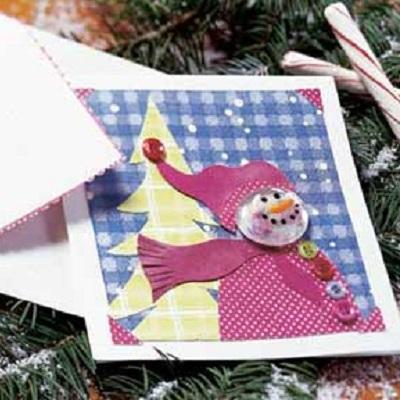 Поделки для дошкольников: Как сделать новогоднюю открытку.  Вспомните свой детсад - вы постоянно что-то лепили...