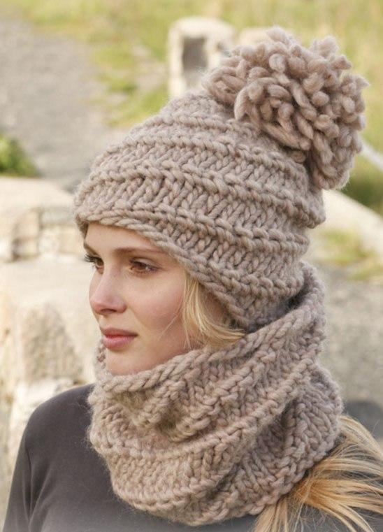 Зимние вязаные шапки для женщин