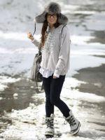 Зимний стиль одежды для девушек