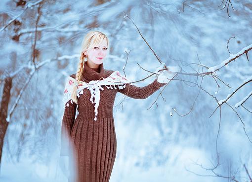 Лес фото девушки