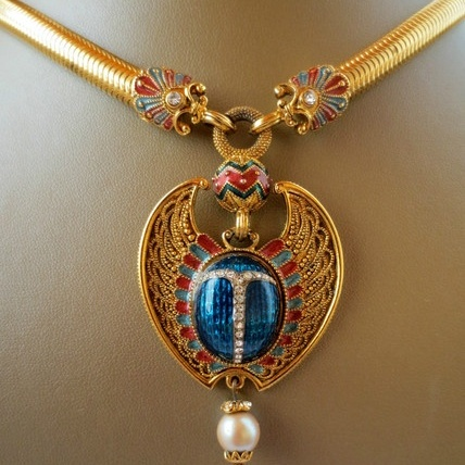 Egyptian amulet necklace