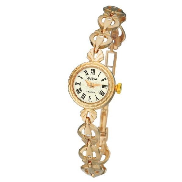 Механические золотые часы с браслетом