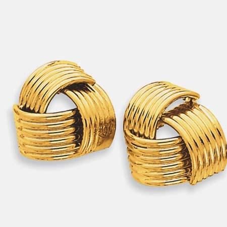 Золотые серьги гвоздики без камней