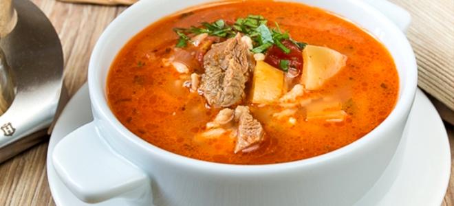 как приготовить быстро и вкусный суп из свинины