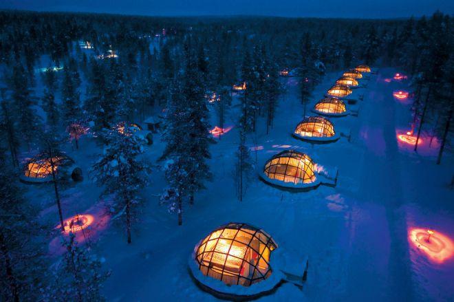 Отель Какслаутаннен (Деревня Иглу) на севере Лапландии