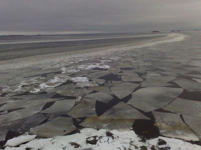 Тающий лед, запад Финляндии