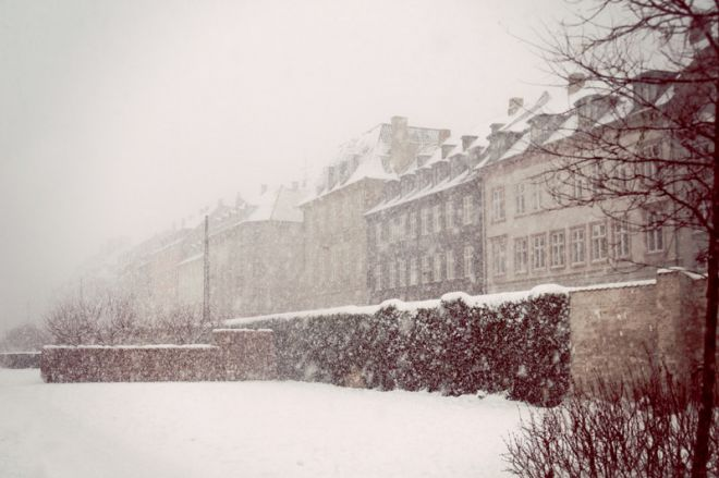Копенгаген во время снежной бури