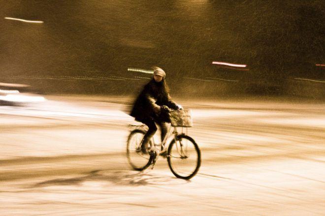 Велосипедист в Копенгагене