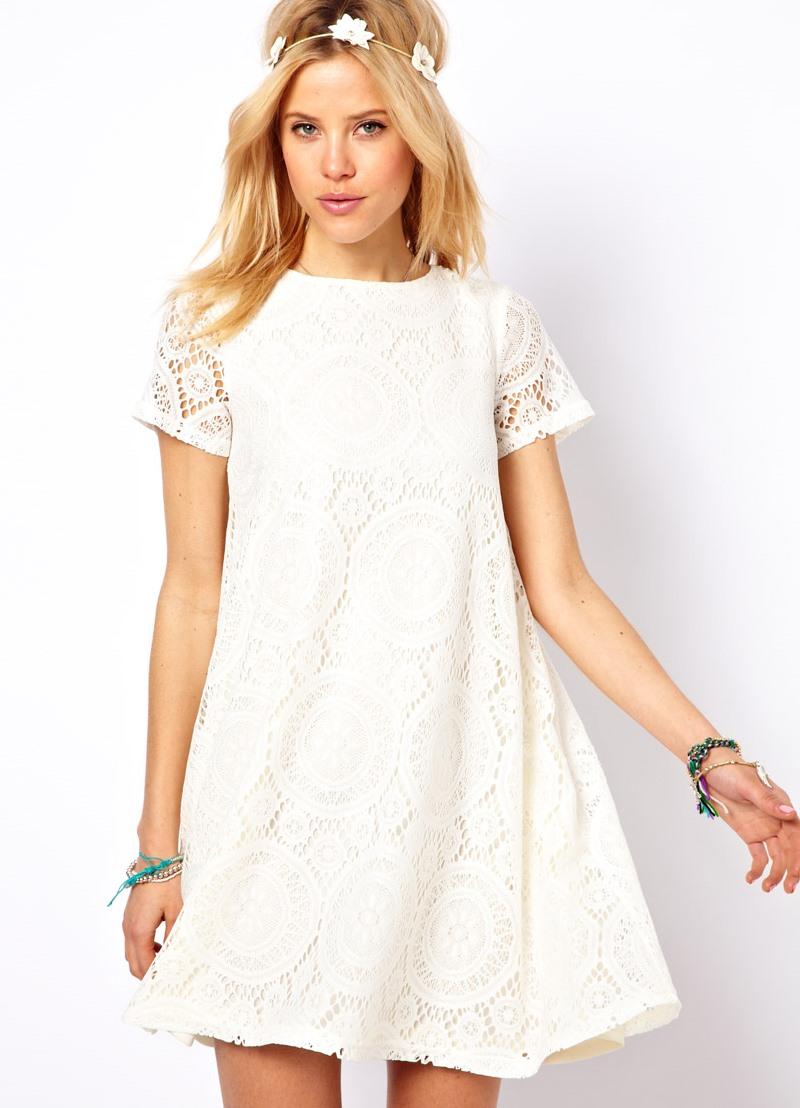 0eb7a3d868a9cc2 ... летнее белое платье с кружевом3