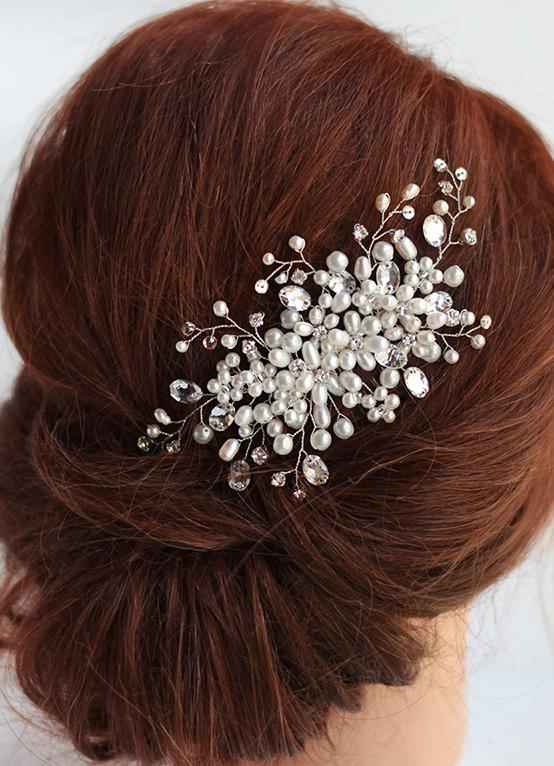 3ebd2a3188d0 Гребень в волосы на свадьбу