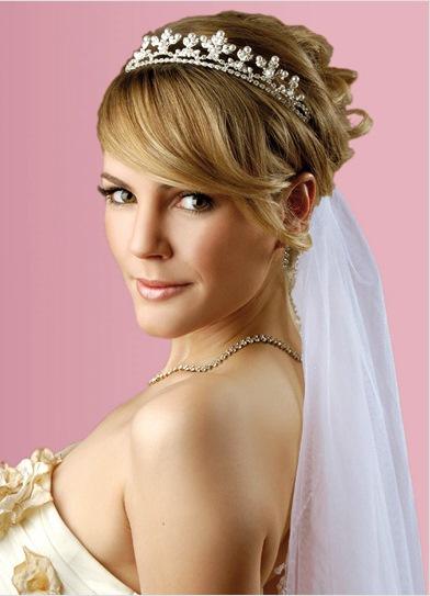 фата с диадемой на свадьбу