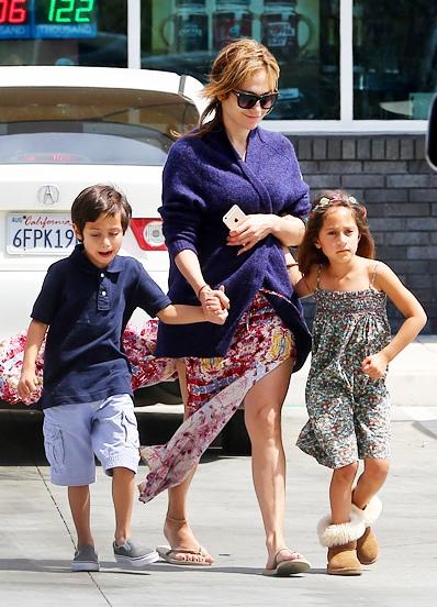 Фото дженнифер лопез и ее детей