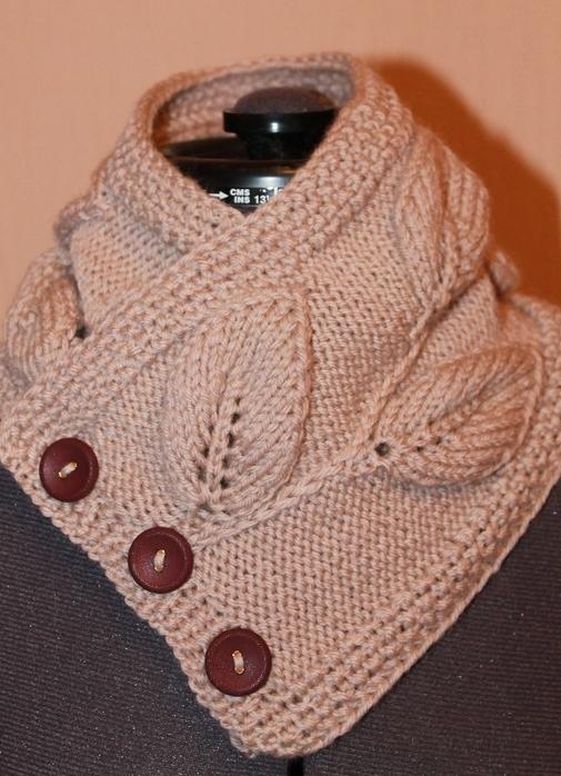 шарф на пуговицах