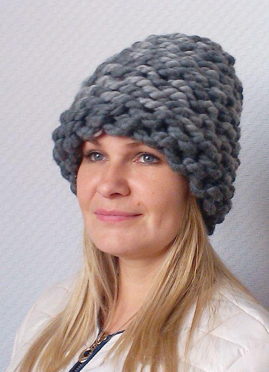 Связать шапку из меха своими руками фото 231