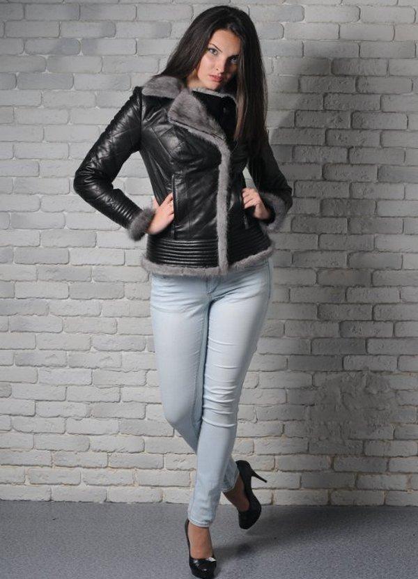 женские утепленные кожаные куртки1 ... 4b260d780c056