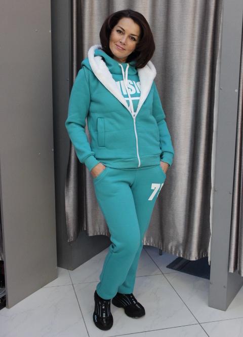 утепленный женский спортивный костюм1 ... 1757b703601