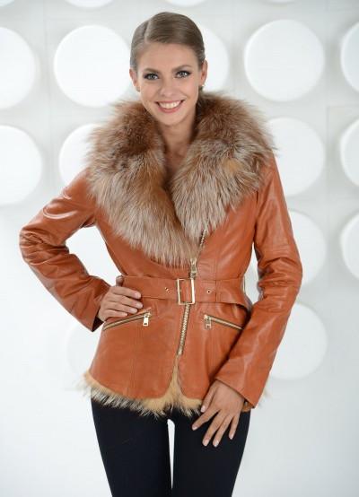 Утепленные женские кожаные куртки c4603bf1eb220