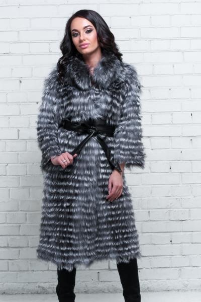 Меховое пальто из чернобурки 13dc6a1a79aa9