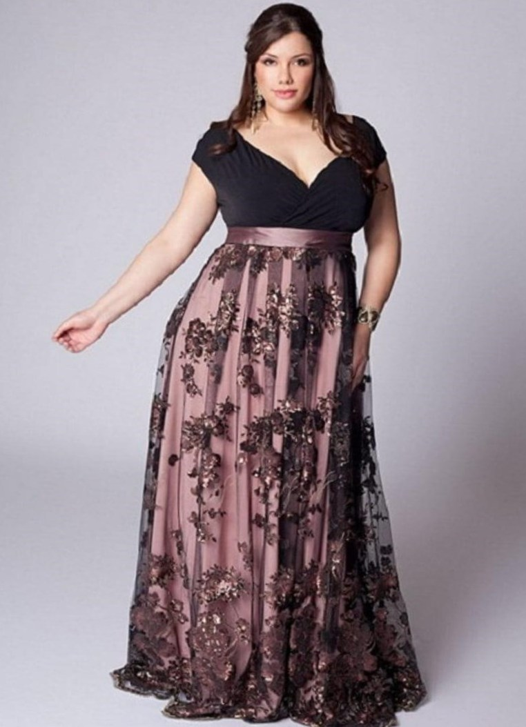 266fbc3a1de820a Нарядные платья для полных женщин на юбилей