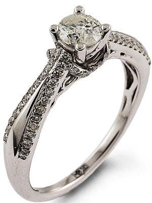 ... Кольцо из белого золота с бриллиантом2 ... 9352f290db6ba