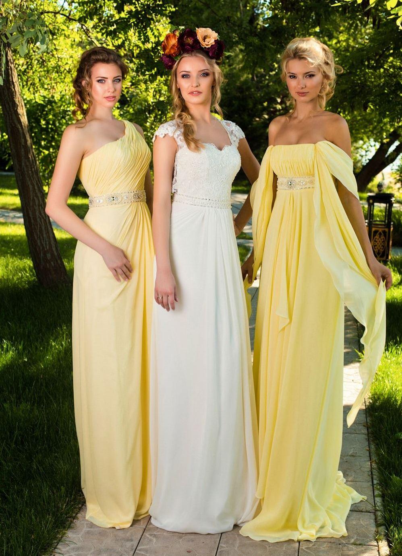 Фасон платья для подружки невесты фото