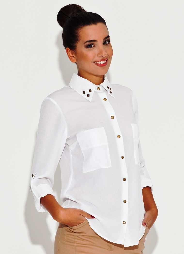 725709cd4f66 Рубашки Белые Женские Фото