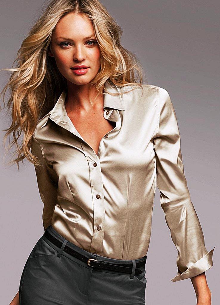 Шелковая рубашка женская фото