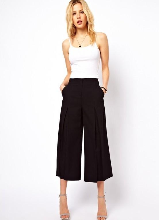 укороченные брюки 2016 фото