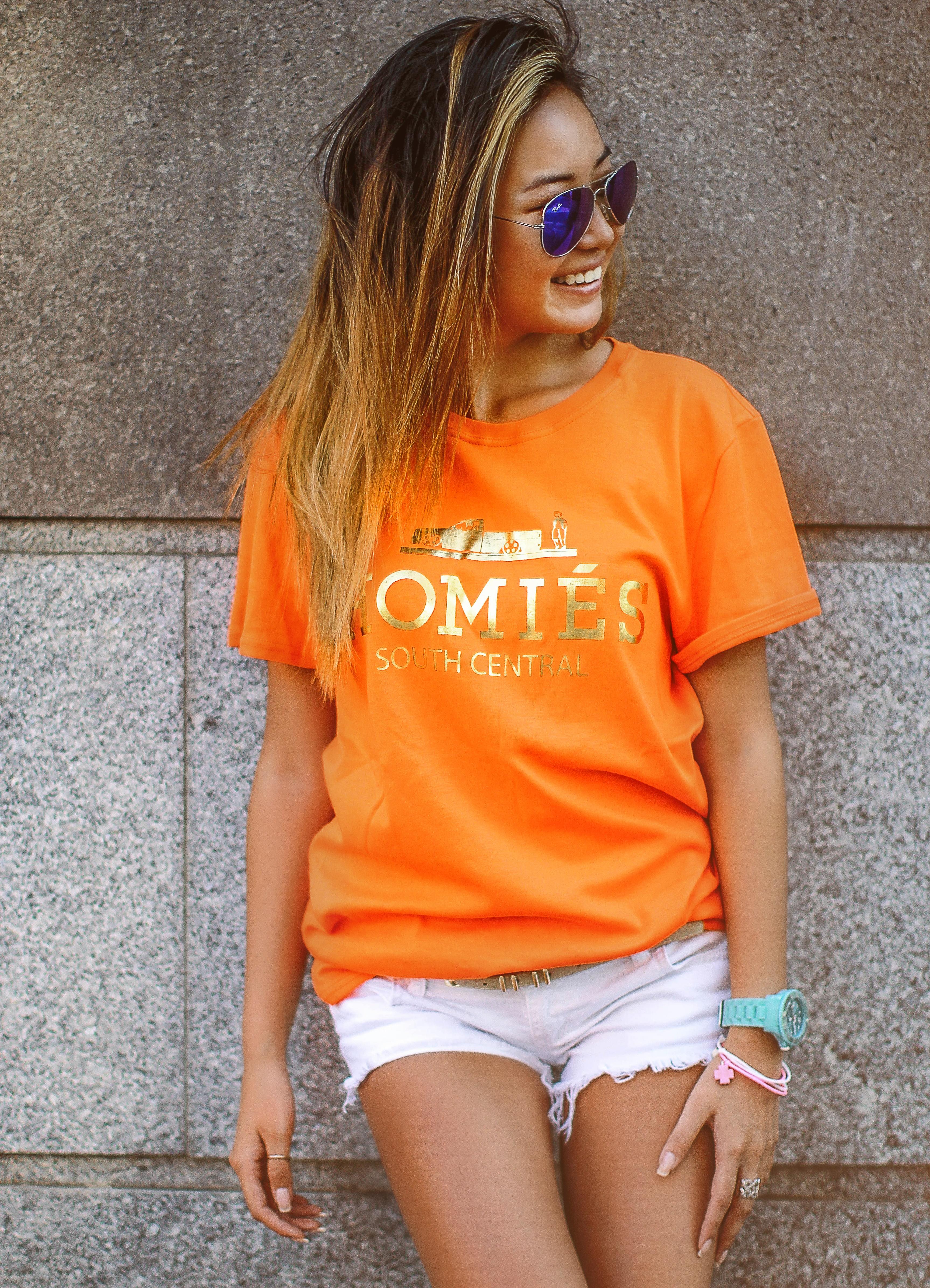 Футболки Оранжевые Женские