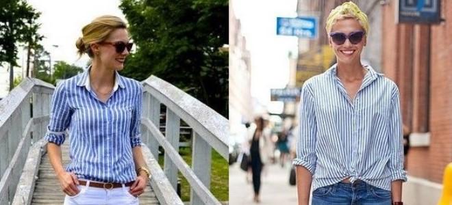 3ef1632002d Женская рубашка в полоску