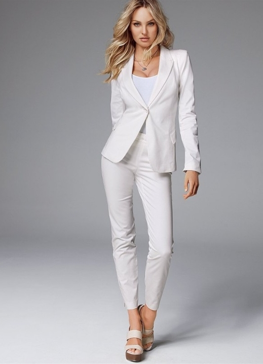 f3a927958355 женский белый брючный костюм 1 ...