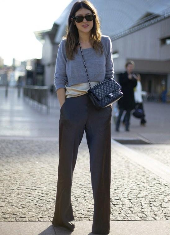 прямые брюки с чем носить фото