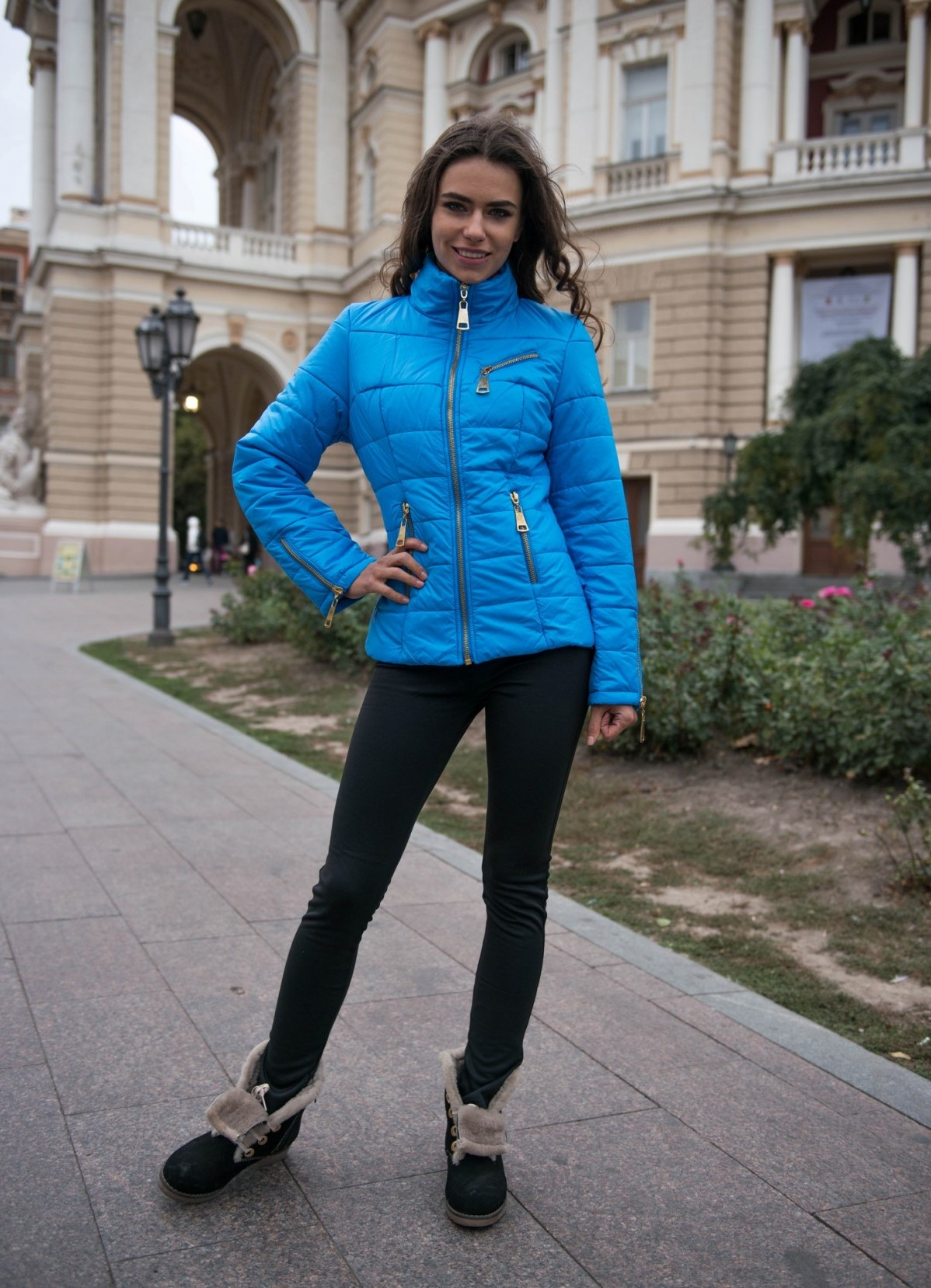 фотография голубая куртка с чем носить фото только принять запрос